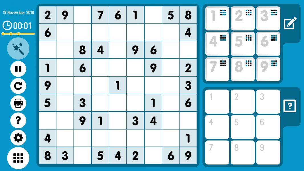 Level 2018-11-19. Online Sudoku