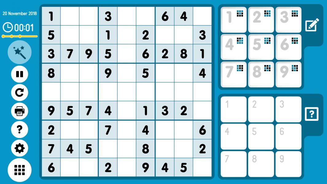 Level 2018-11-20. Online Sudoku