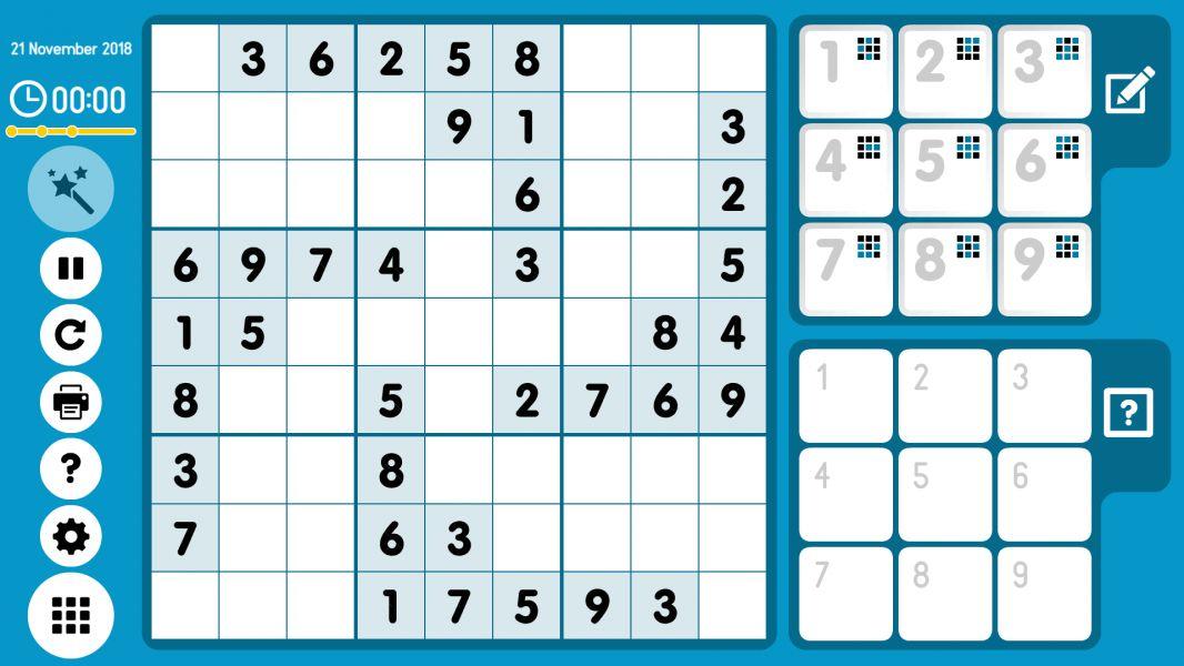 Level 2018-11-21. Online Sudoku