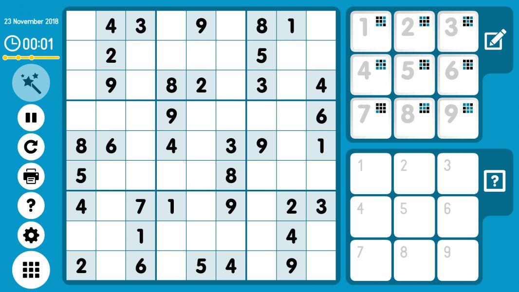 Level 2018-11-23. Online Sudoku