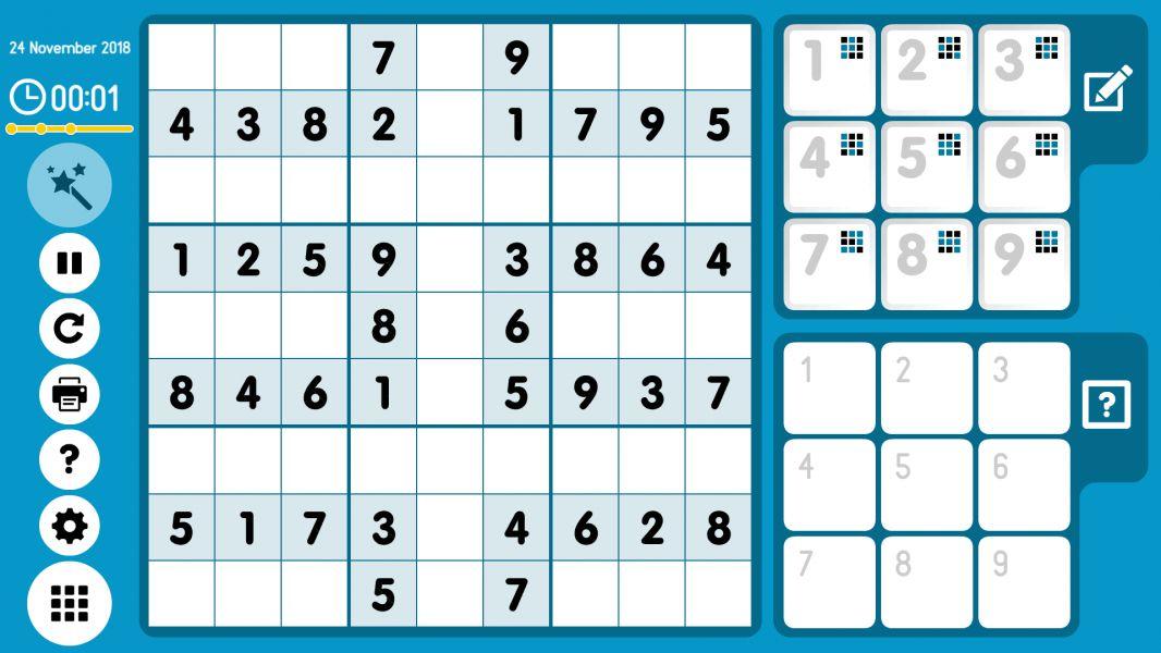 Level 2018-11-24. Online Sudoku