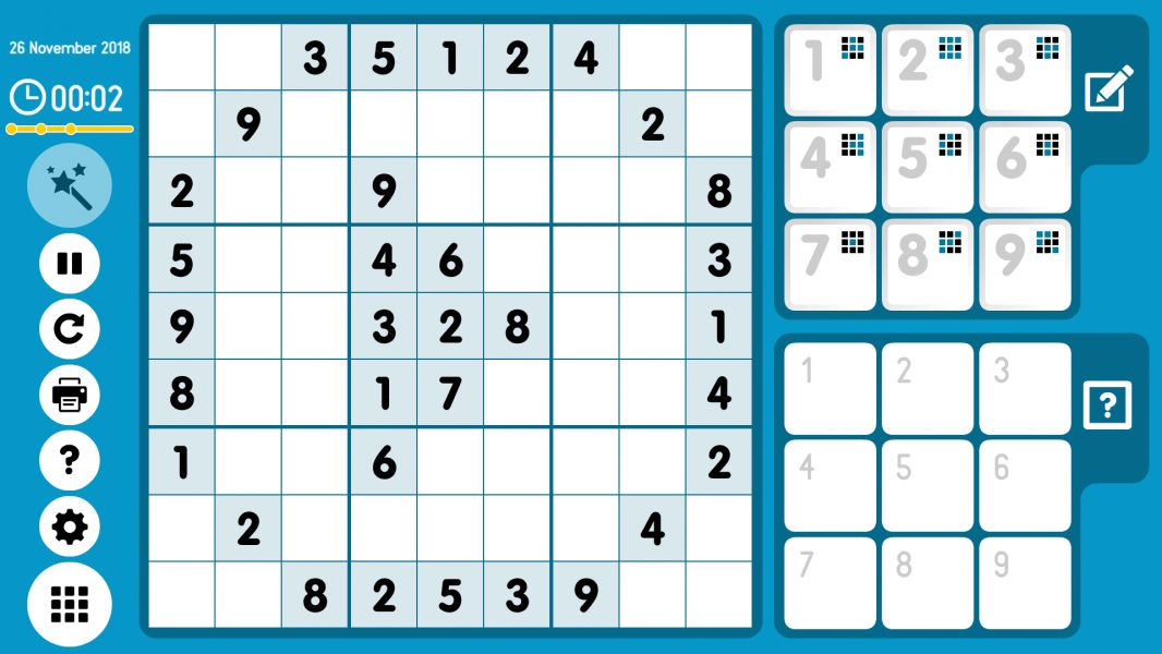 Level 2018-11-26. Online Sudoku
