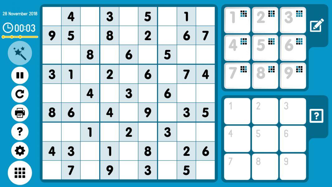 Level 2018-11-28. Online Sudoku