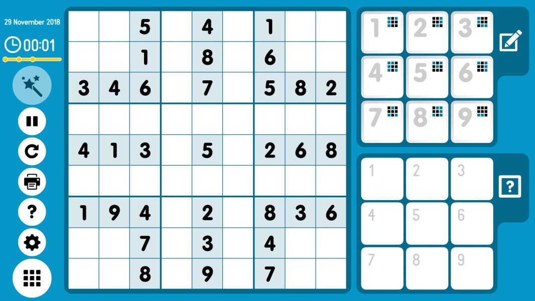 Level 2018-11-29. Online Sudoku