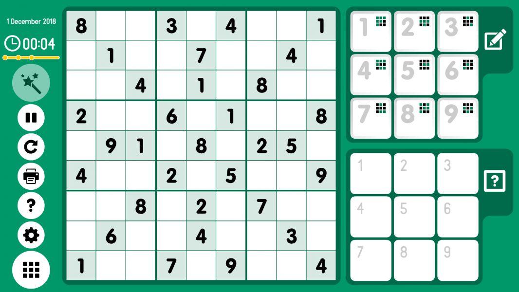 Level 2018-12-01. Online Sudoku