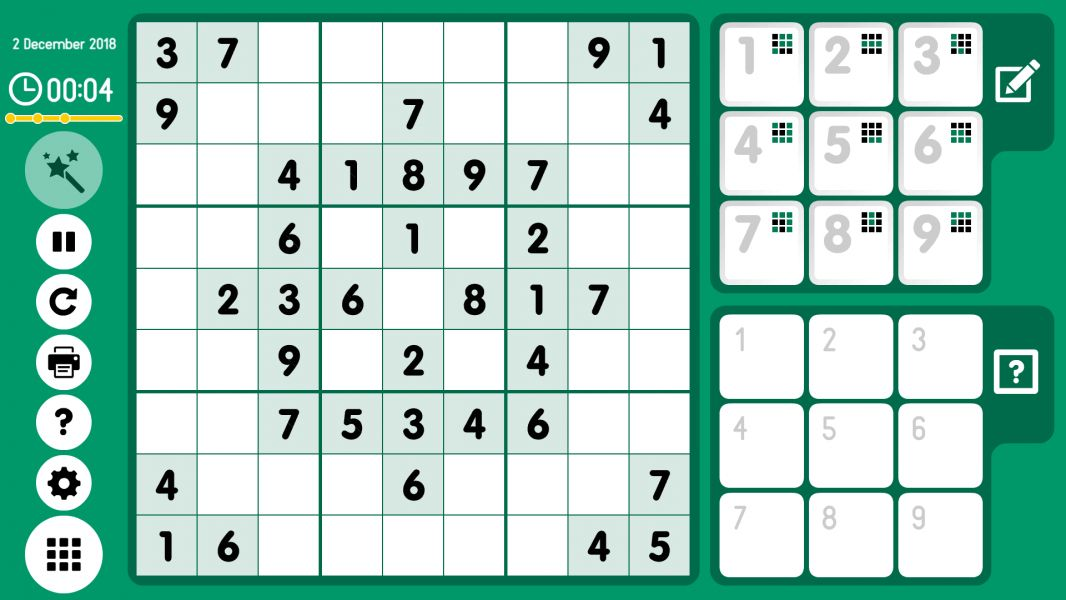 Level 2018-12-02. Online Sudoku