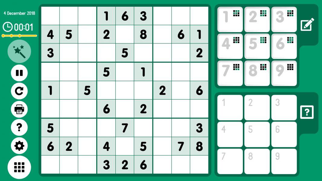 Level 2018-12-04. Online Sudoku