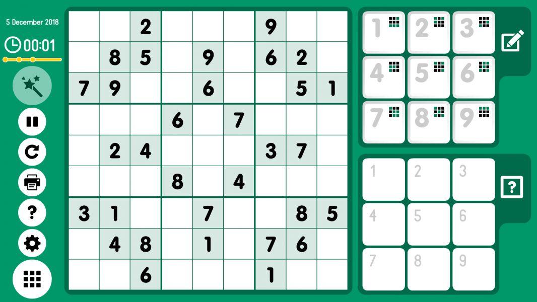 Level 2018-12-05. Online Sudoku