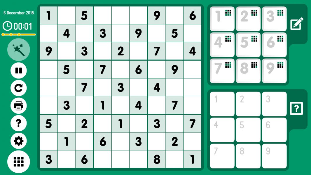 Level 2018-12-06. Online Sudoku