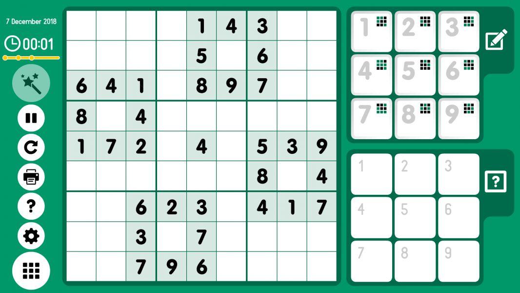 Level 2018-12-07. Online Sudoku