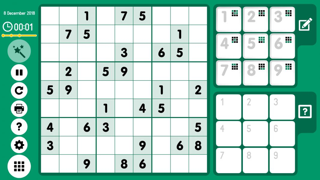 Level 2018-12-08. Online Sudoku