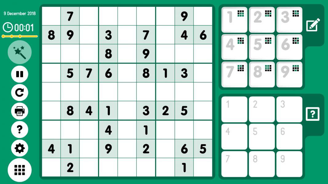 Level 2018-12-09. Online Sudoku
