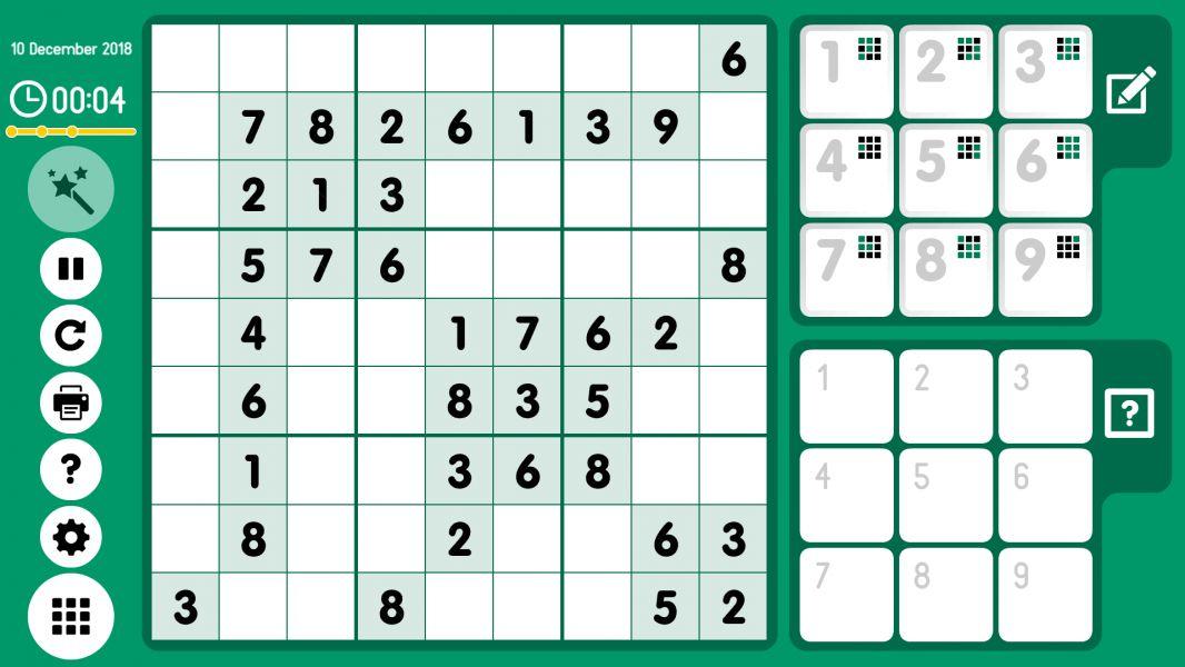 Level 2018-12-10. Online Sudoku