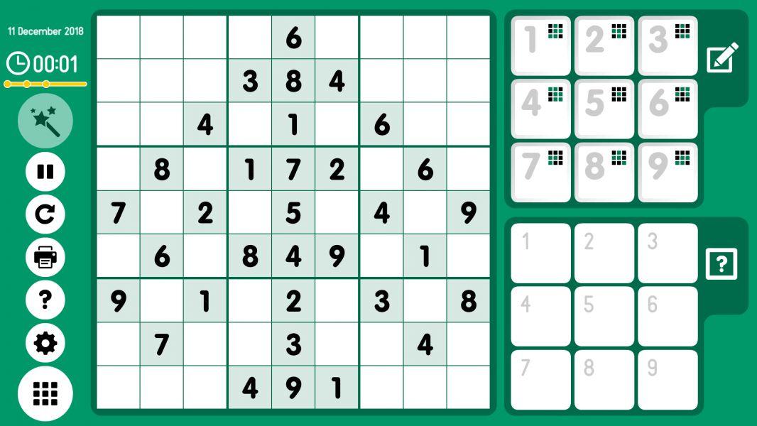 Level 2018-12-11. Online Sudoku