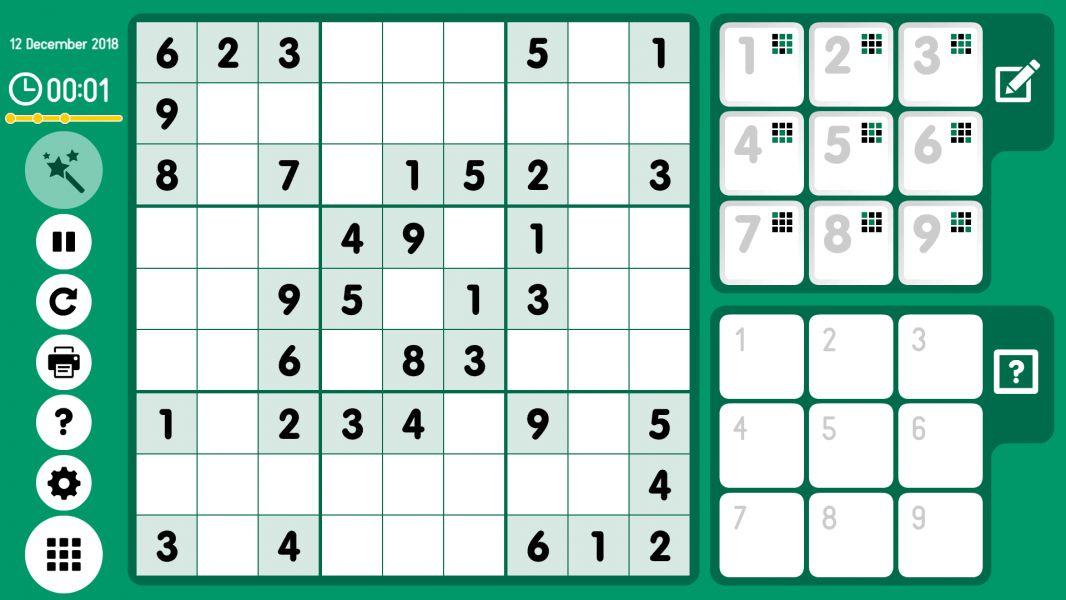 Level 2018-12-12. Online Sudoku