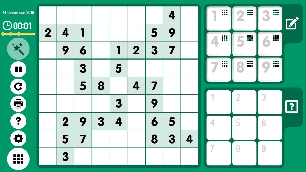 Level 2018-12-14. Online Sudoku