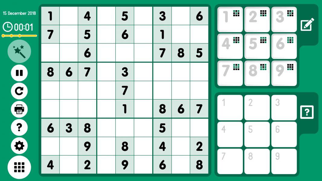 Level 2018-12-15. Online Sudoku