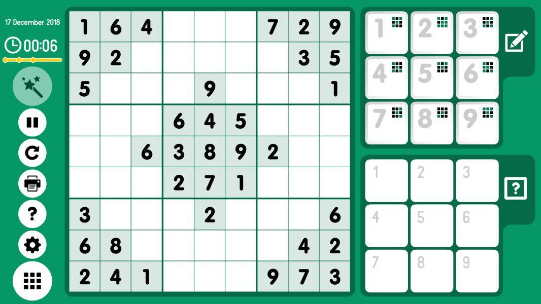 Level 2018-12-17. Online Sudoku