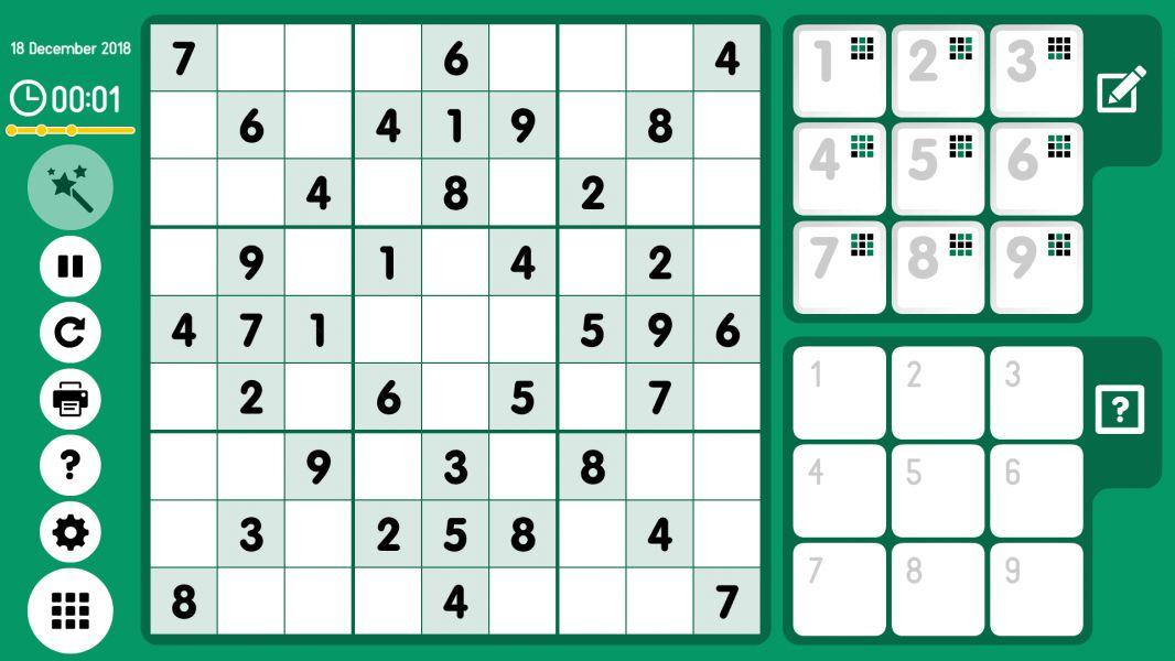 Level 2018-12-18. Online Sudoku