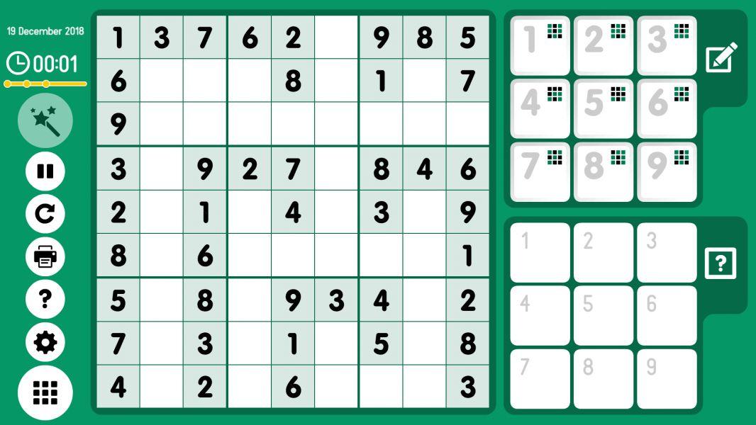 Level 2018-12-19. Online Sudoku