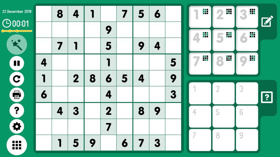 Level 2018-12-22. Online Sudoku