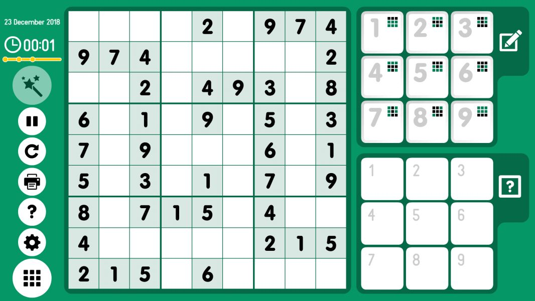 Level 2018-12-23. Online Sudoku