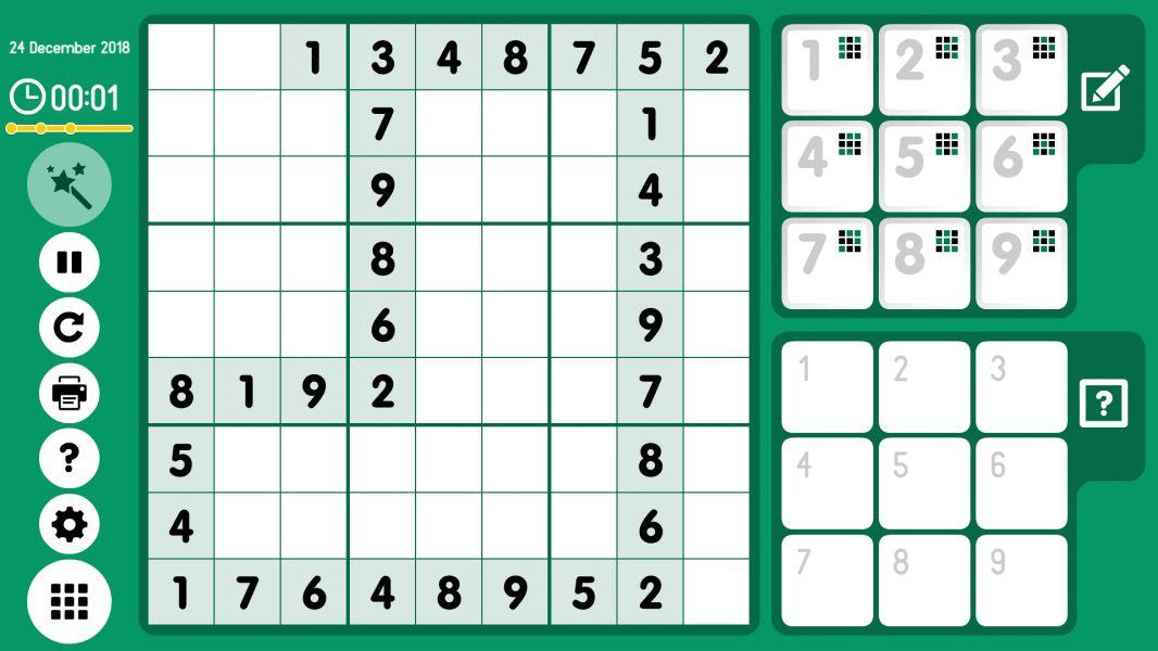 Level 2018-12-24. Online Sudoku