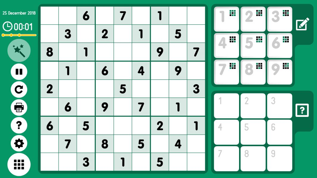 Level 2018-12-25. Online Sudoku