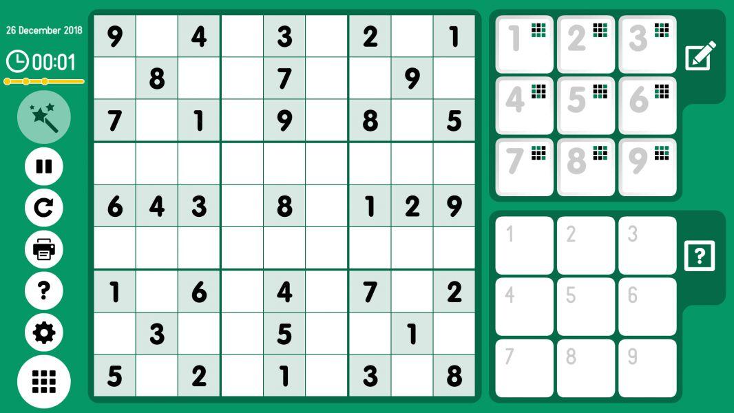 Level 2018-12-26. Online Sudoku