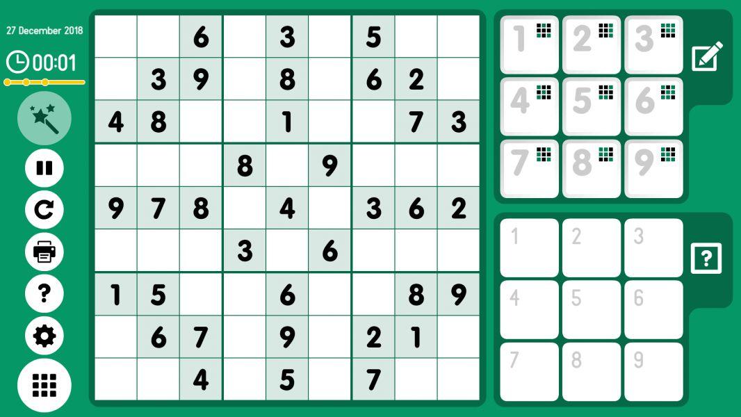 Level 2018-12-27. Online Sudoku