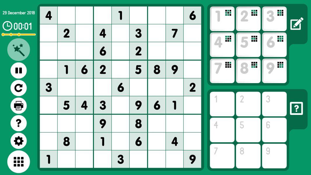 Level 2018-12-29. Online Sudoku