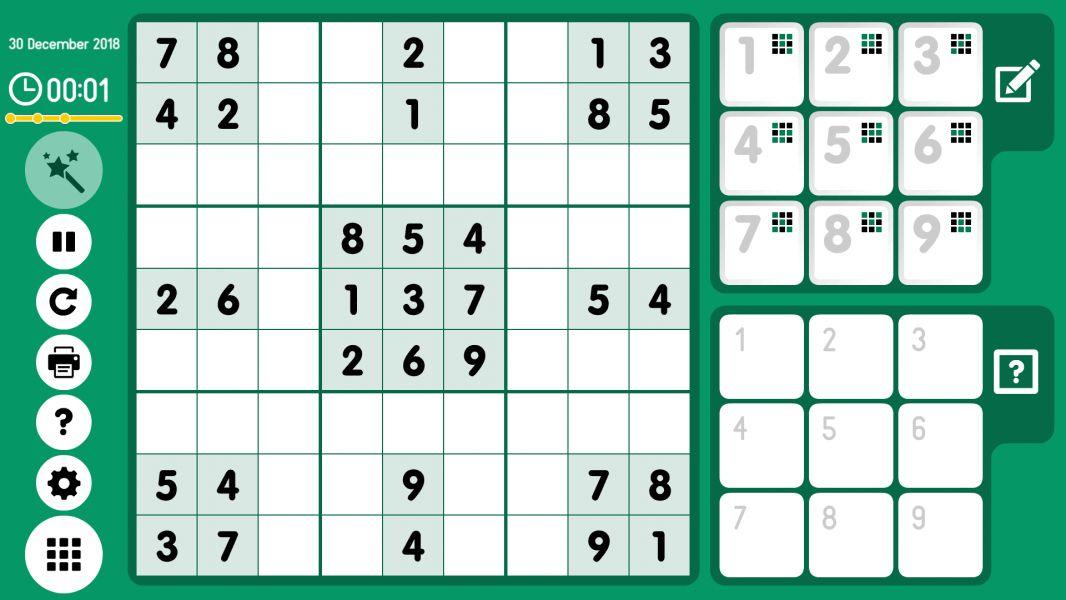 Level 2018-12-30. Online Sudoku