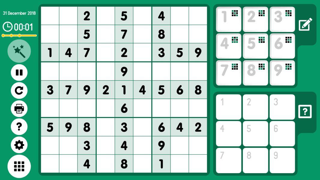 Level 2018-12-31. Online Sudoku