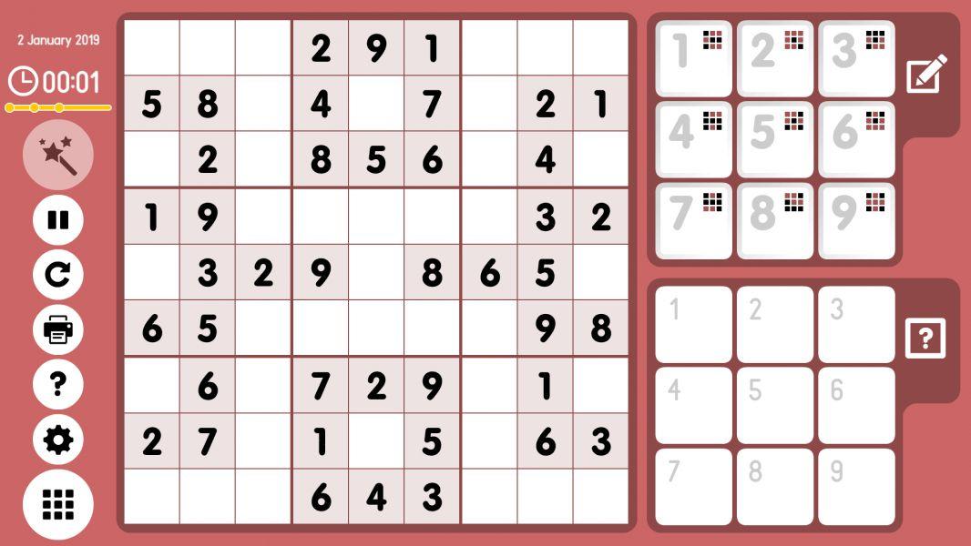 Level 2019-01-02. Online Sudoku