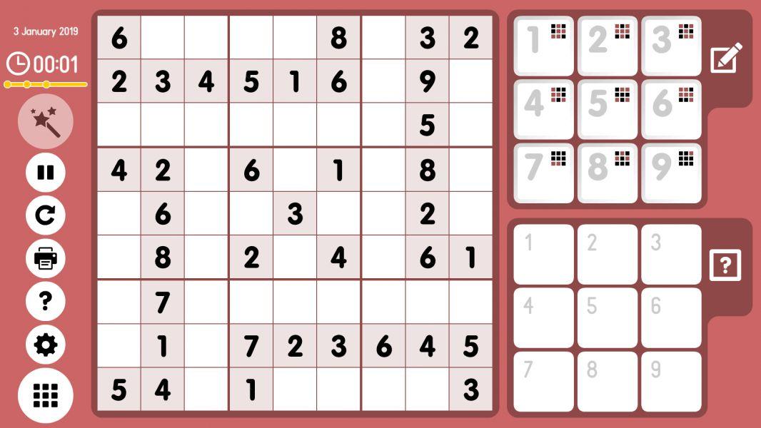 Level 2019-01-03. Online Sudoku