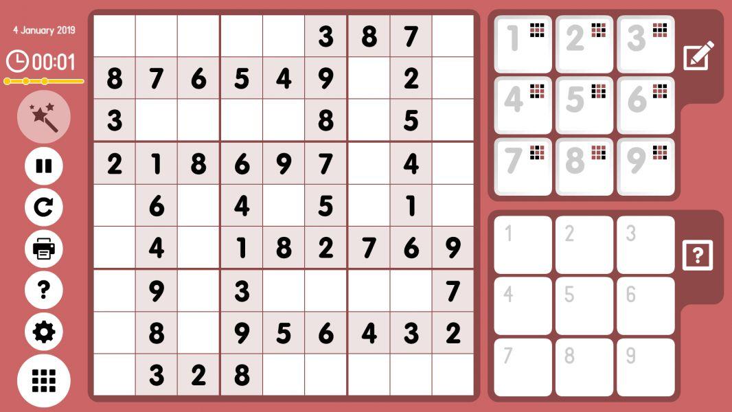 Level 2019-01-04. Online Sudoku