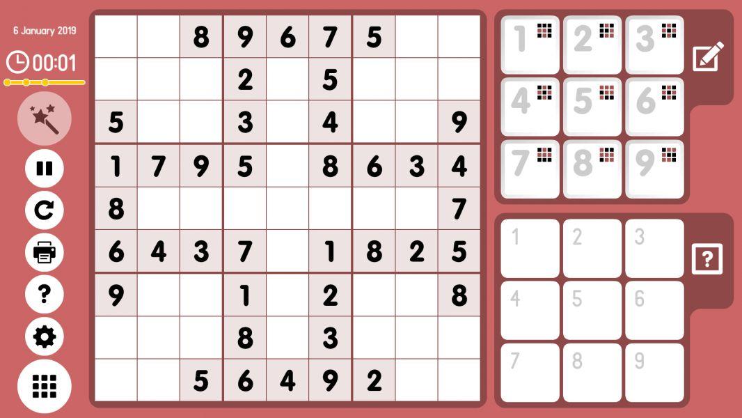Level 2019-01-06. Online Sudoku
