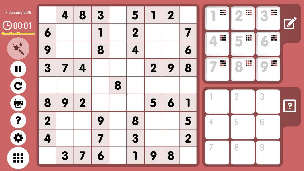 Level 2019-01-07. Online Sudoku