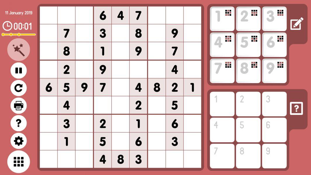 Level 2019-01-11. Online Sudoku