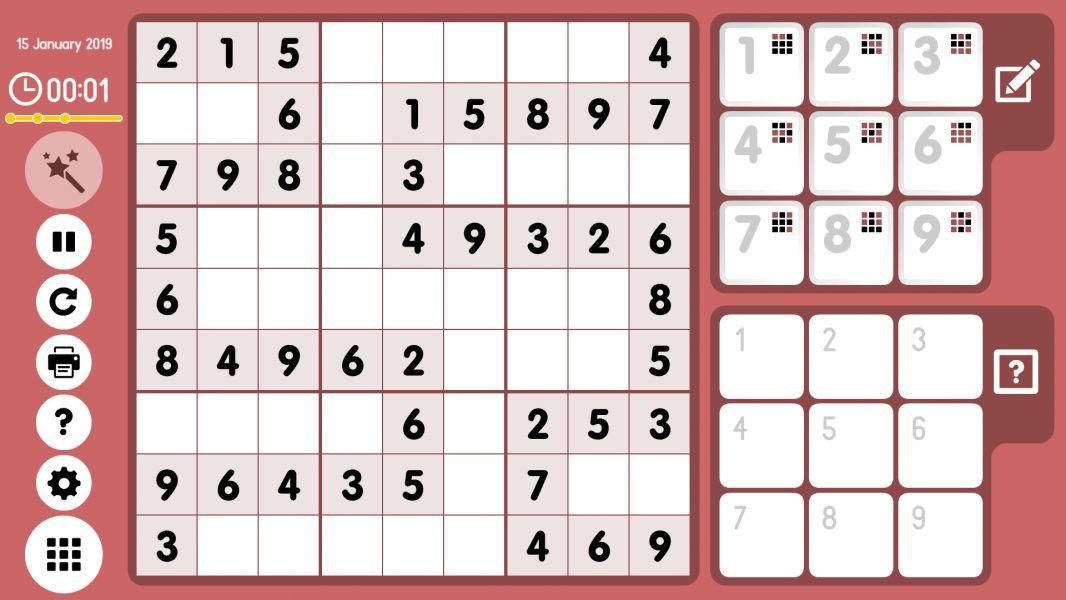Level 2019-01-15. Online Sudoku