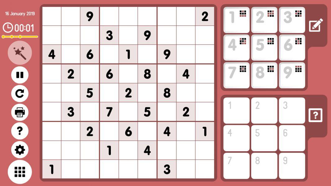 Level 2019-01-16. Online Sudoku
