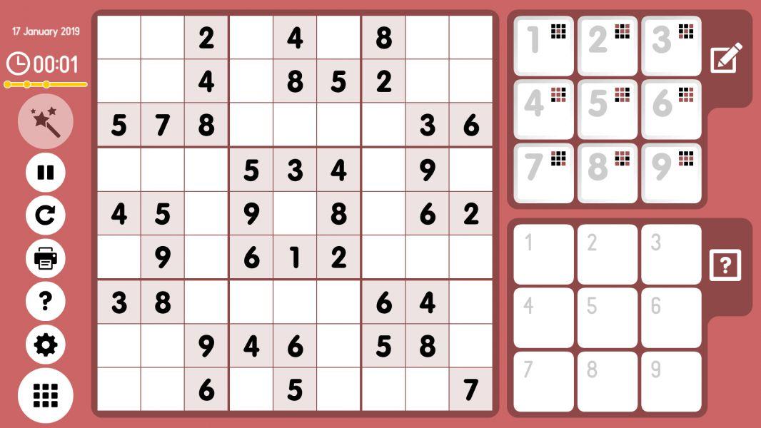 Level 2019-01-17. Online Sudoku