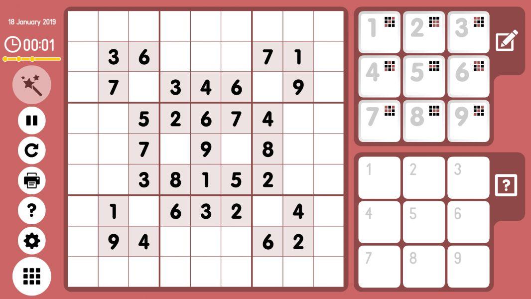Level 2019-01-18. Online Sudoku