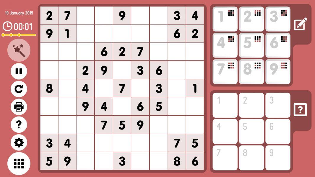 Level 2019-01-19. Online Sudoku