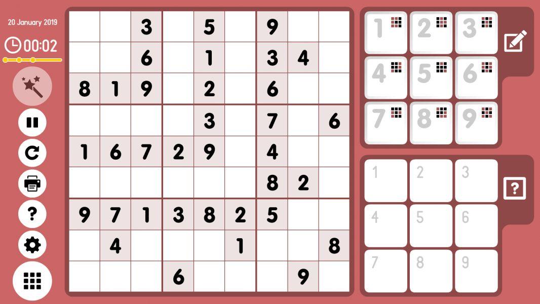 Level 2019-01-20. Online Sudoku