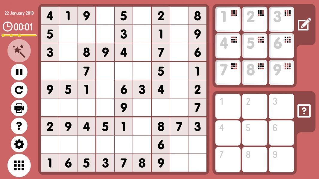 Level 2019-01-22. Online Sudoku