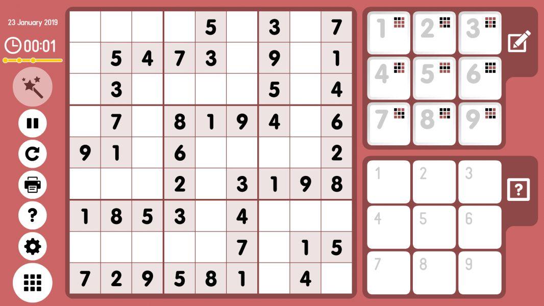 Level 2019-01-23. Online Sudoku