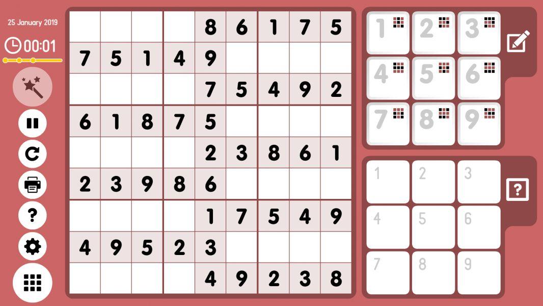 Level 2019-01-25. Online Sudoku