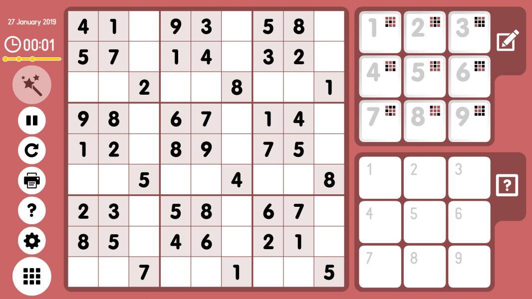 Level 2019-01-27. Online Sudoku