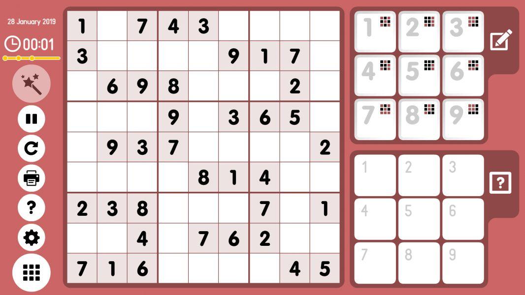 Level 2019-01-28. Online Sudoku